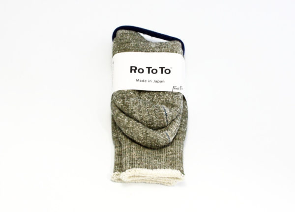 Rototo double face socks army green-01