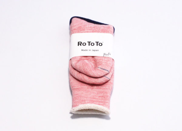 Rototo double face socks light pink 01