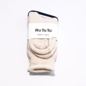 Rototo double face socks oatmeal 01