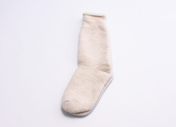 Rototo double face socks oatmeal 02