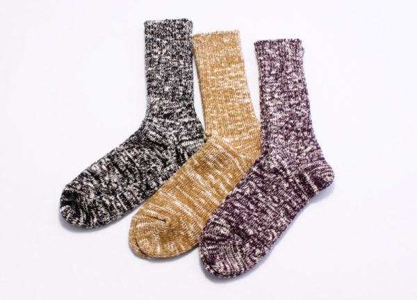 Rototo low gauge slub crew socks all color