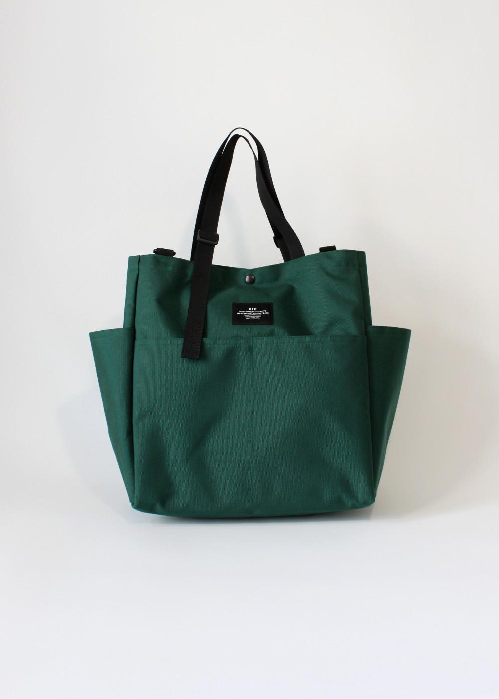 Bags-In-Progress-Carry-All-Beach-Bag-Darkgreen-Front