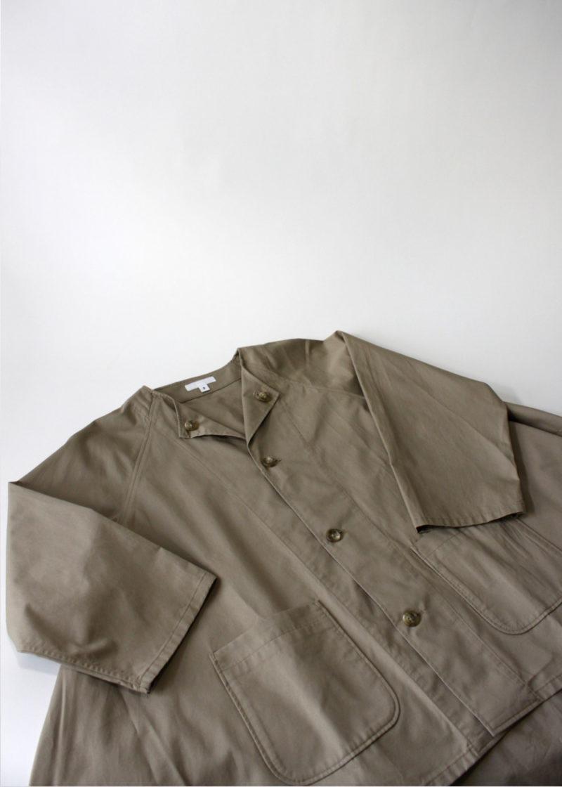 Engineeredgarments-No-Collar-Raglan-Khaki-High-Count-Twill3