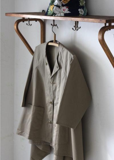 Engineeredgarments-No-Collar-Raglan-Khaki-High-Count-Twill5