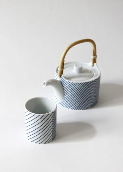 Hakusanporcelain-Kasanejima-Teapot&cup
