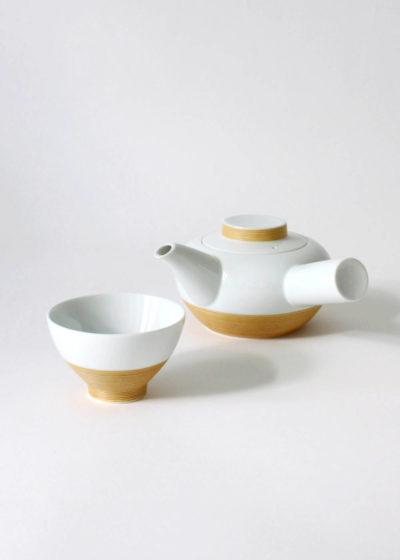 Hakusanporcelain-Sabisennzuji-Teapot&cup