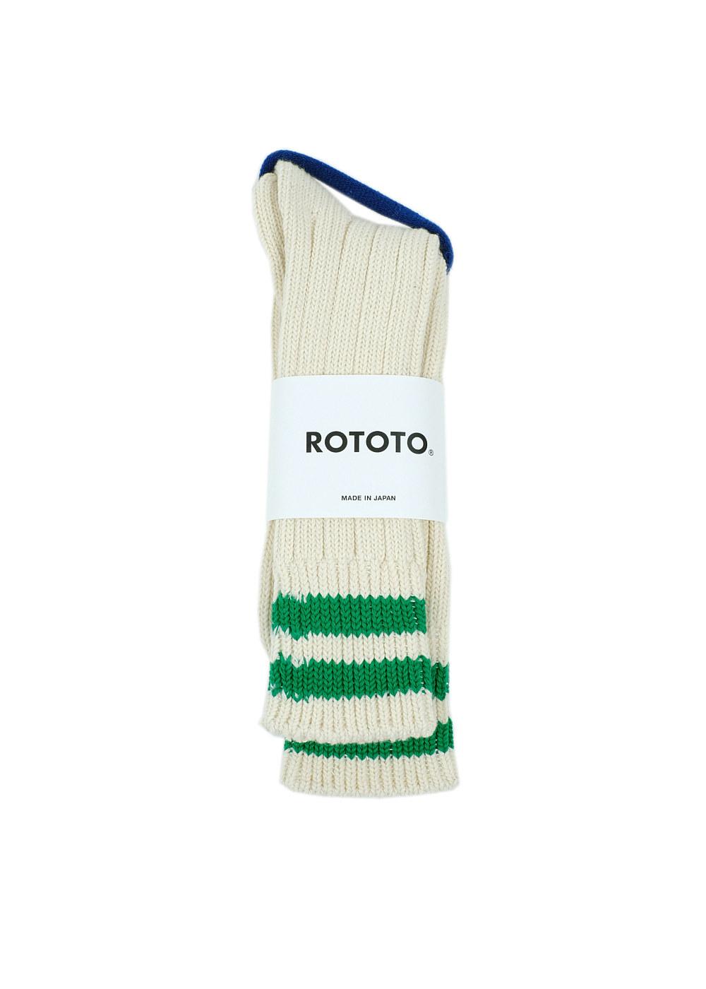 Rototo-LowRawSocks-2-Stripes-Ecru-M.Green-01.jpg