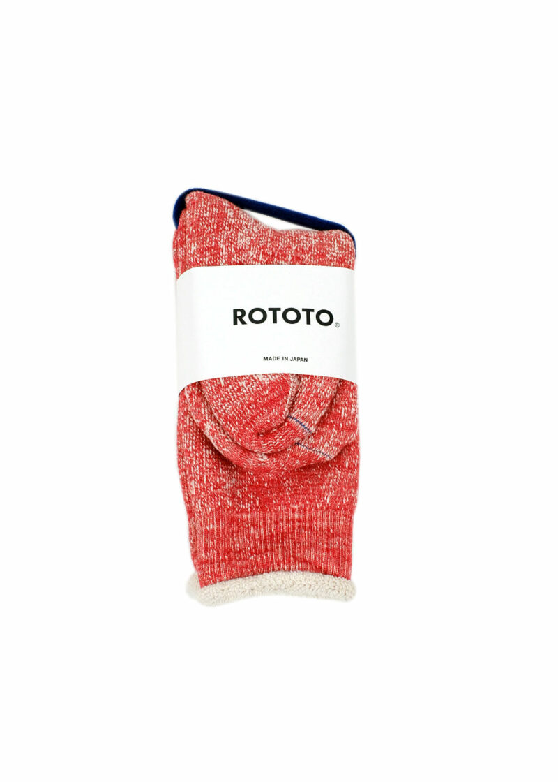 Rototo-double-face-socks-Red-01
