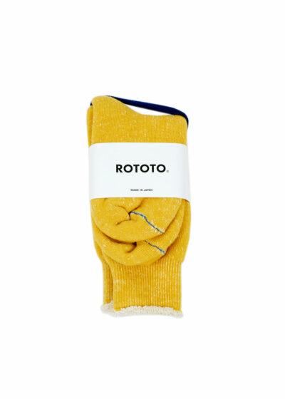 Rototo-double-face-socks-Yellow-01