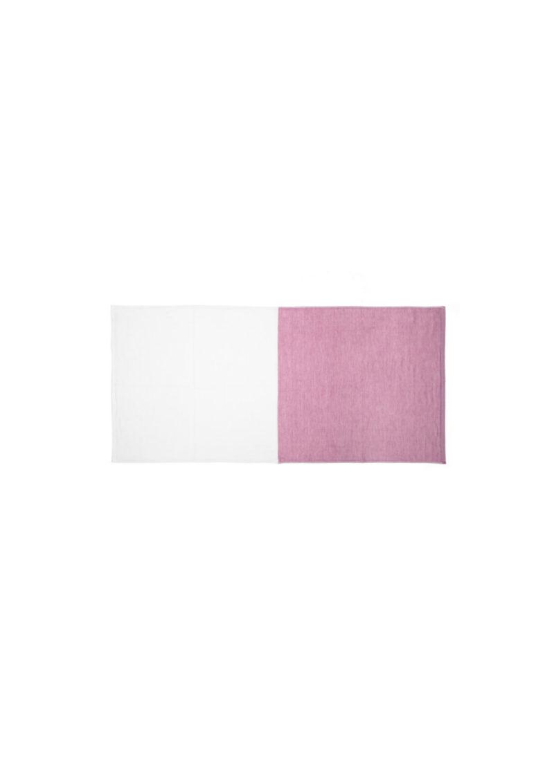 YoshiiTowel-5Trees2ToneChambray-FaceTowl-White-Red