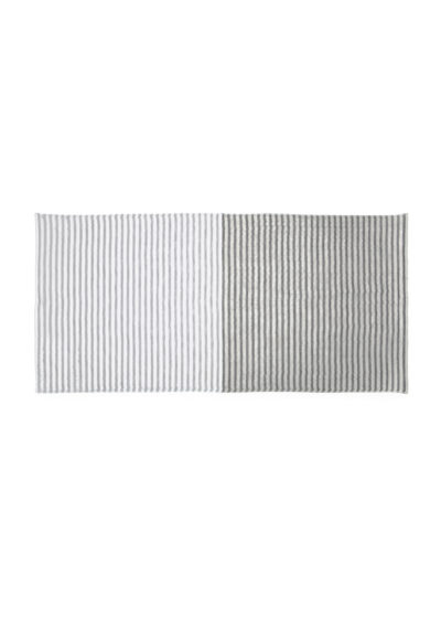 YoshiiTowel-5TreesLinenBorder-BathTowel-Black-Gray