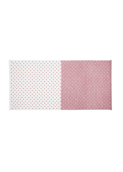 YoshiiTowel-5TreesPolkaDot-BathTowel-White-Red
