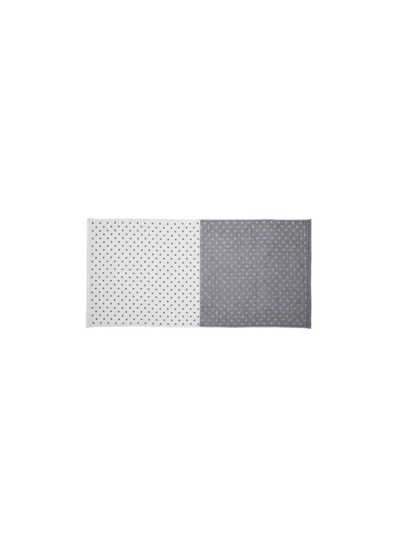 YoshiiTowel-5TreesPolkaDot-FaceTowel-White-Gray
