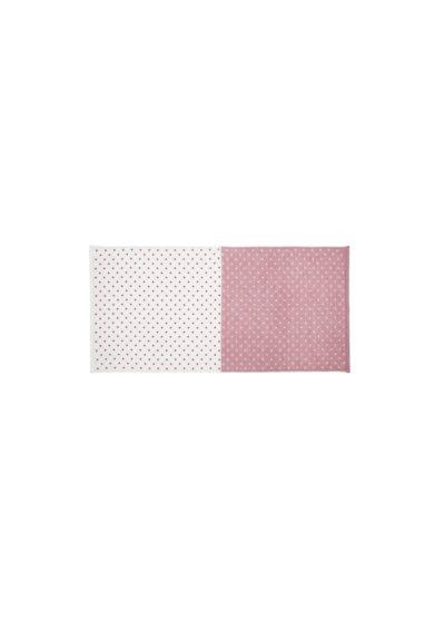 YoshiiTowel-5TreesPolkaDot-FaceTowel-White-Red