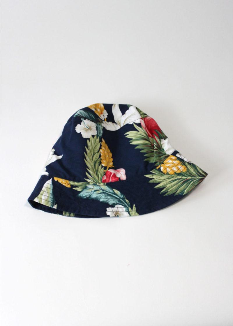 Engineered-Garments-BucketHat-Navy Hawaiian Floral Microfiber2