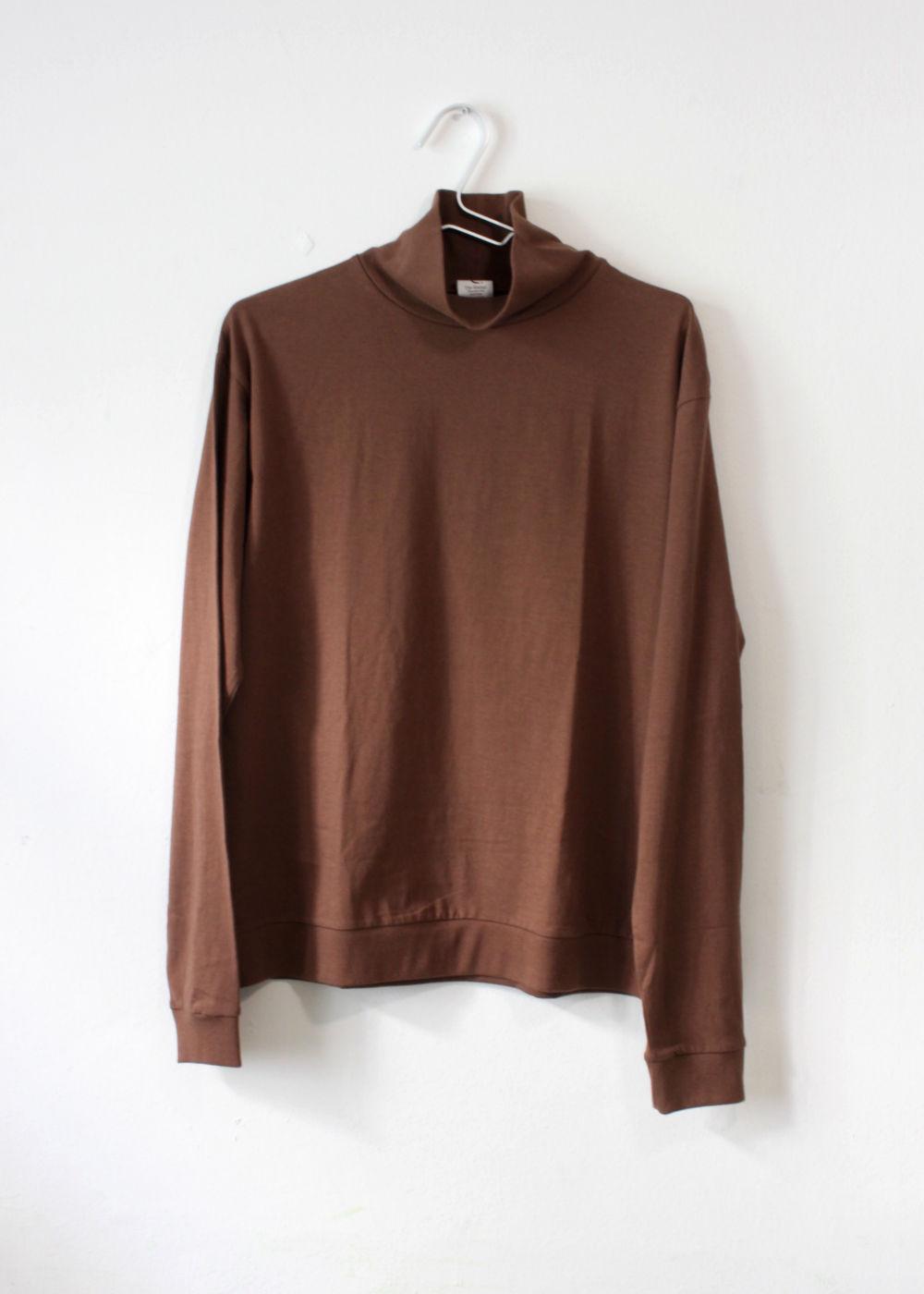 CTheHadagi-Turtleneck-Long-Sleeve-T-shirts-Brown