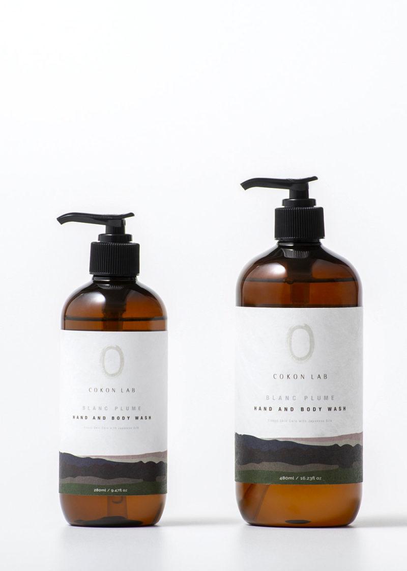 Cokon-Lab-Hand-And-Body-Wash-Blanc-Plume-480ml-280ml
