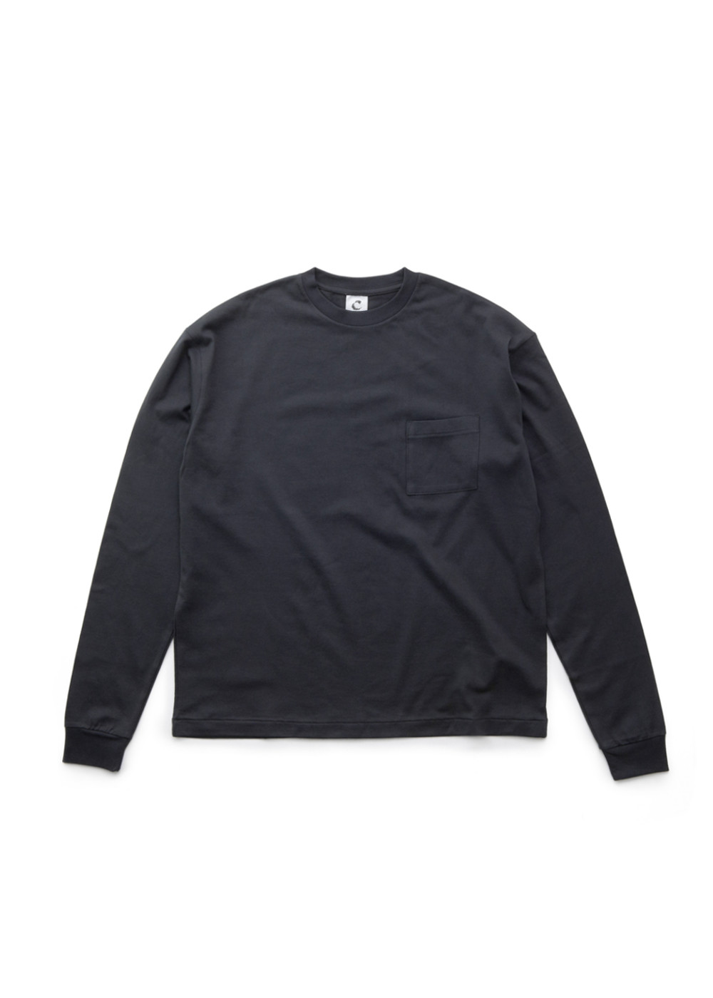 C-by-COMMON-Crew-neck-ling-sleeve-T-shirts-Gray-01