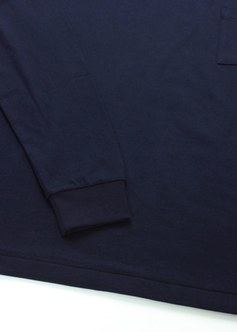 C-by-COMMON-Crew-neck-ling-sleeve-T-shirts-Navy-04