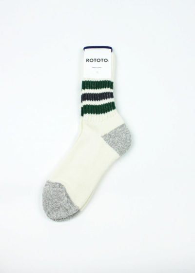 Rototo-Coarse-Ribbed-Oldschool-socks-Green-Charcoal-01