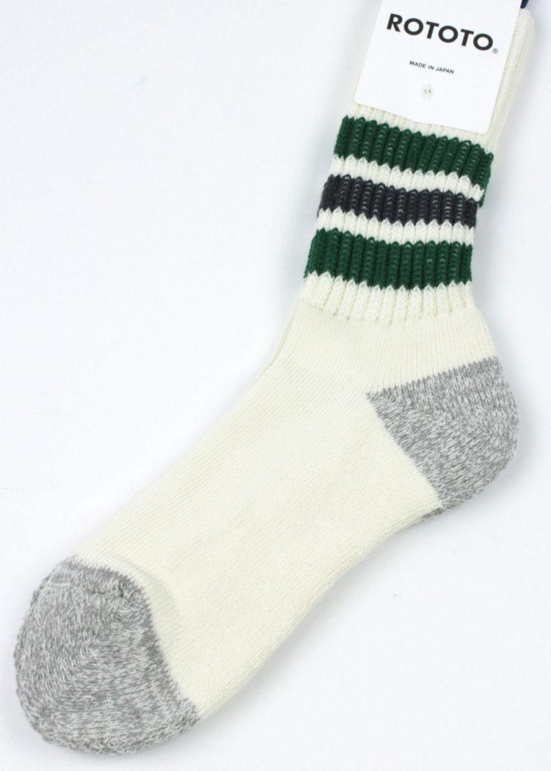 Rototo-Coarse-Ribbed-Oldschool-socks-Green-Charcoal-02