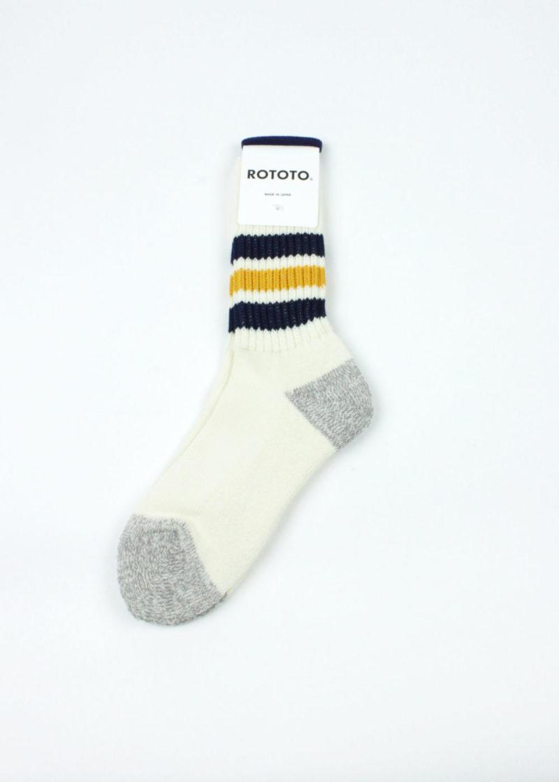 Rototo-Coarse-Ribbed-Oldschool-socks-Navy-Yellow-01