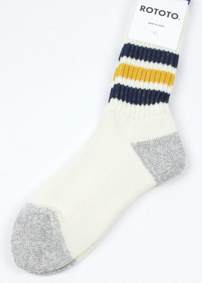 Rototo-Coarse-Ribbed-Oldschool-socks-Navy-Yellow-02