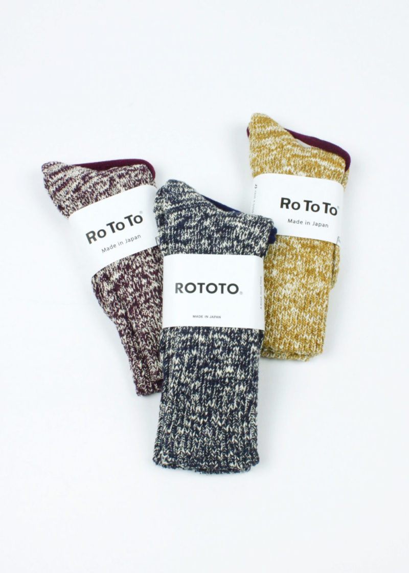Rototo-Low-Gauge-Slub-Crew-Socks-all-color