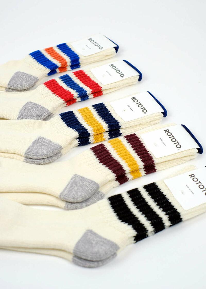 Rototo-coarse-ribbed-oldschool-socks-All