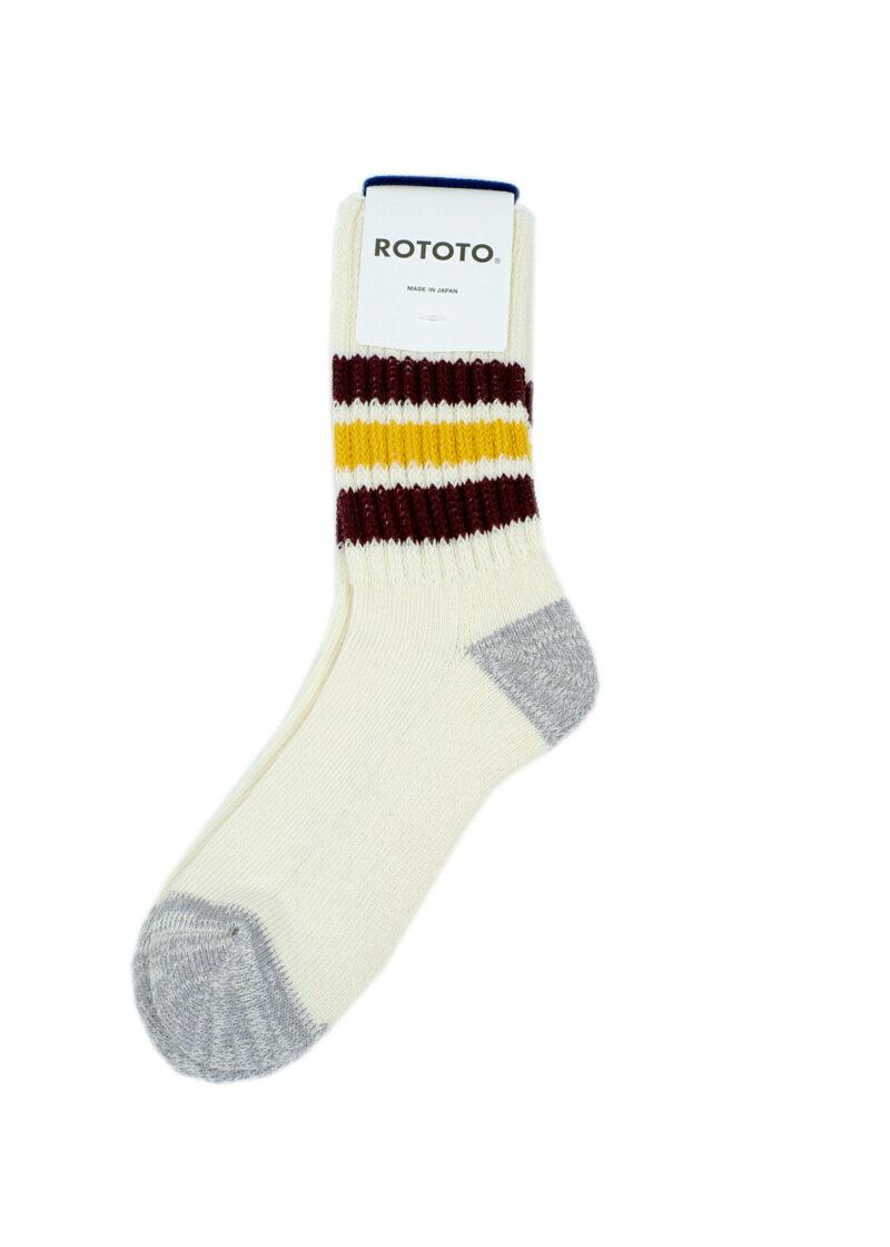 Rototo-coarse-ribbed-oldschool-socks-BordeauxYellow-01