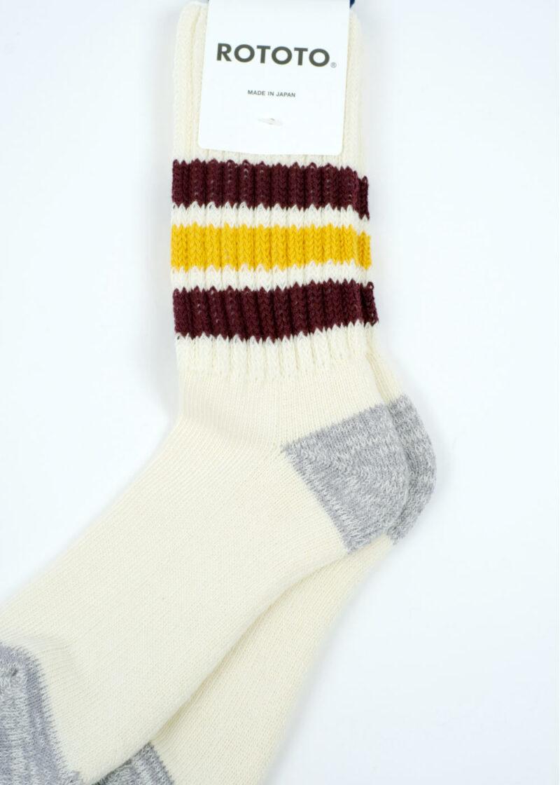 Rototo-coarse-ribbed-oldschool-socks-BordeauxYellow-02