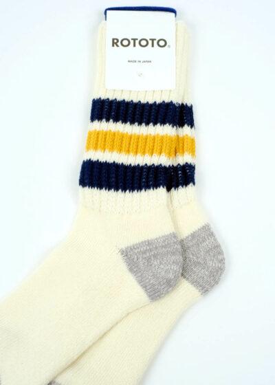 Rototo-coarse-ribbed-oldschool-socks-NavyYellow-02