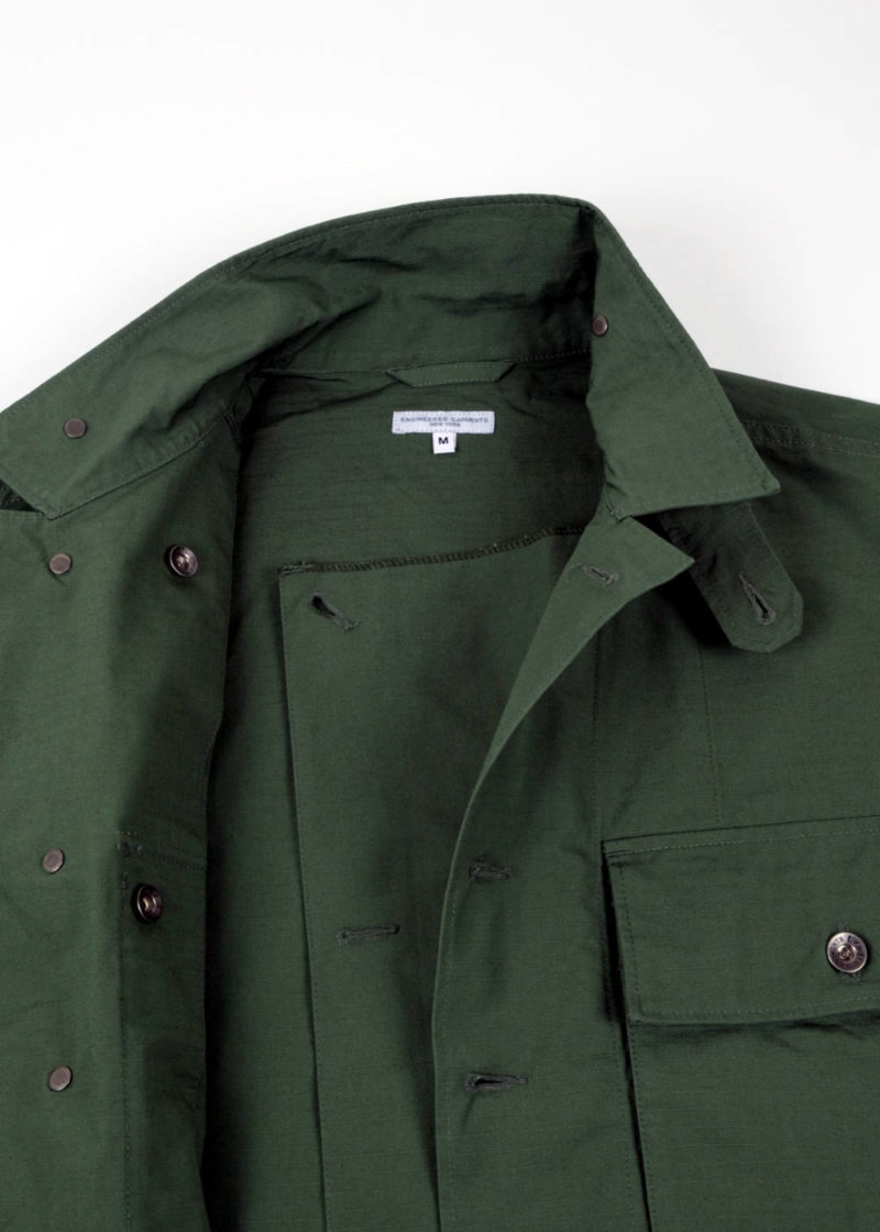 Engineered-Garments-M43-2-Shirt-Jacket-Olive-Cotton-Ripstop-05