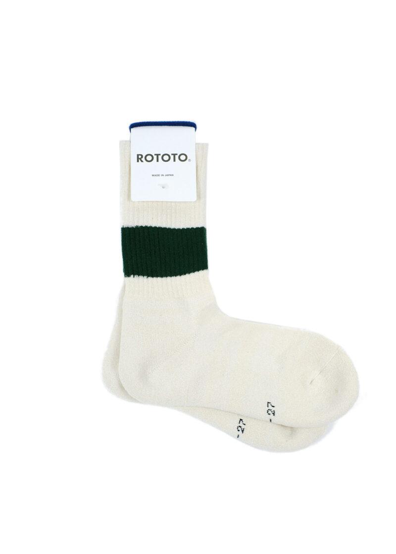 Rototo-ClassicCrewSocks-SilkCotton-Ivory-D.Green-01