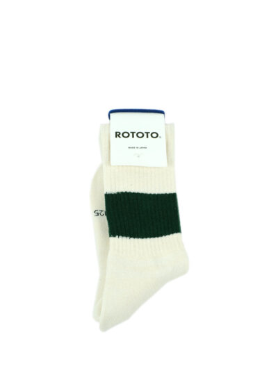 Rototo-ClassicCrewSocks-SilkCotton-Ivory-D.Green-02