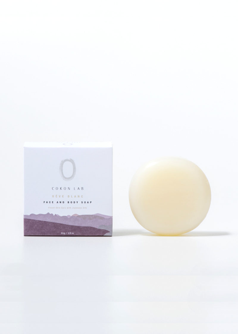 Cokon-Lab-Solid-Soap-With-Japanese-Silk-Reve Blanc-image1