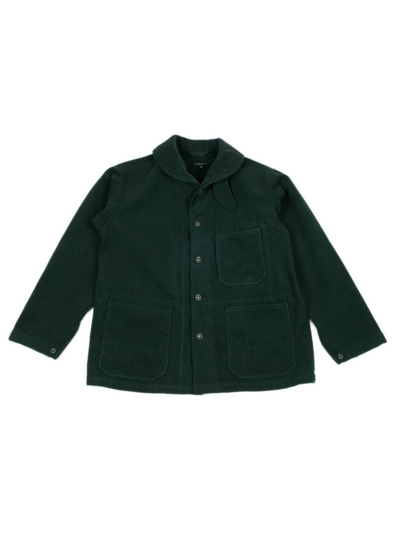 Engineered-Garments-Shawl-Collar-Jacket-Forest-Green-Poly-Fake-Melton-01