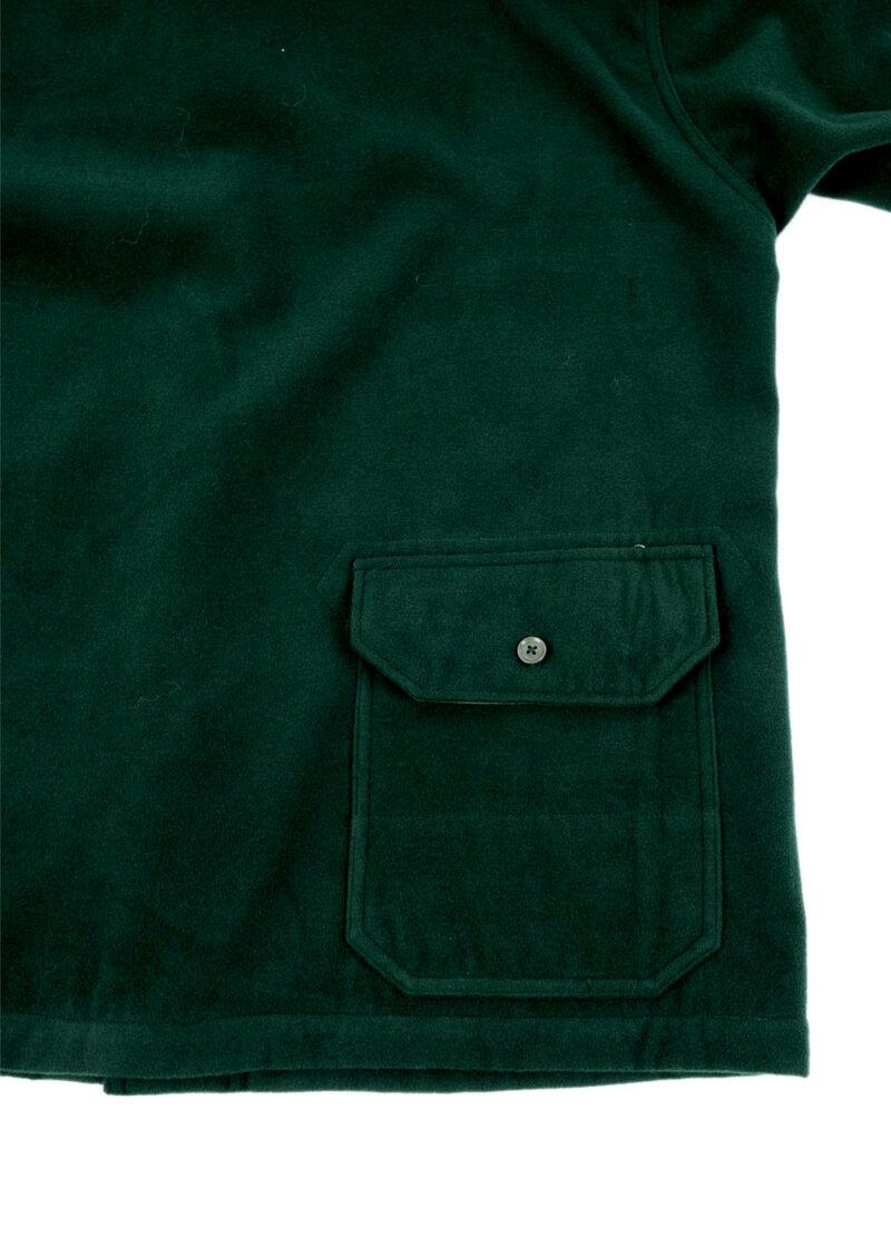 Engineered-Garments-Shawl-Collar-Jacket-Forest-Green-Poly-Fake-Melton-04