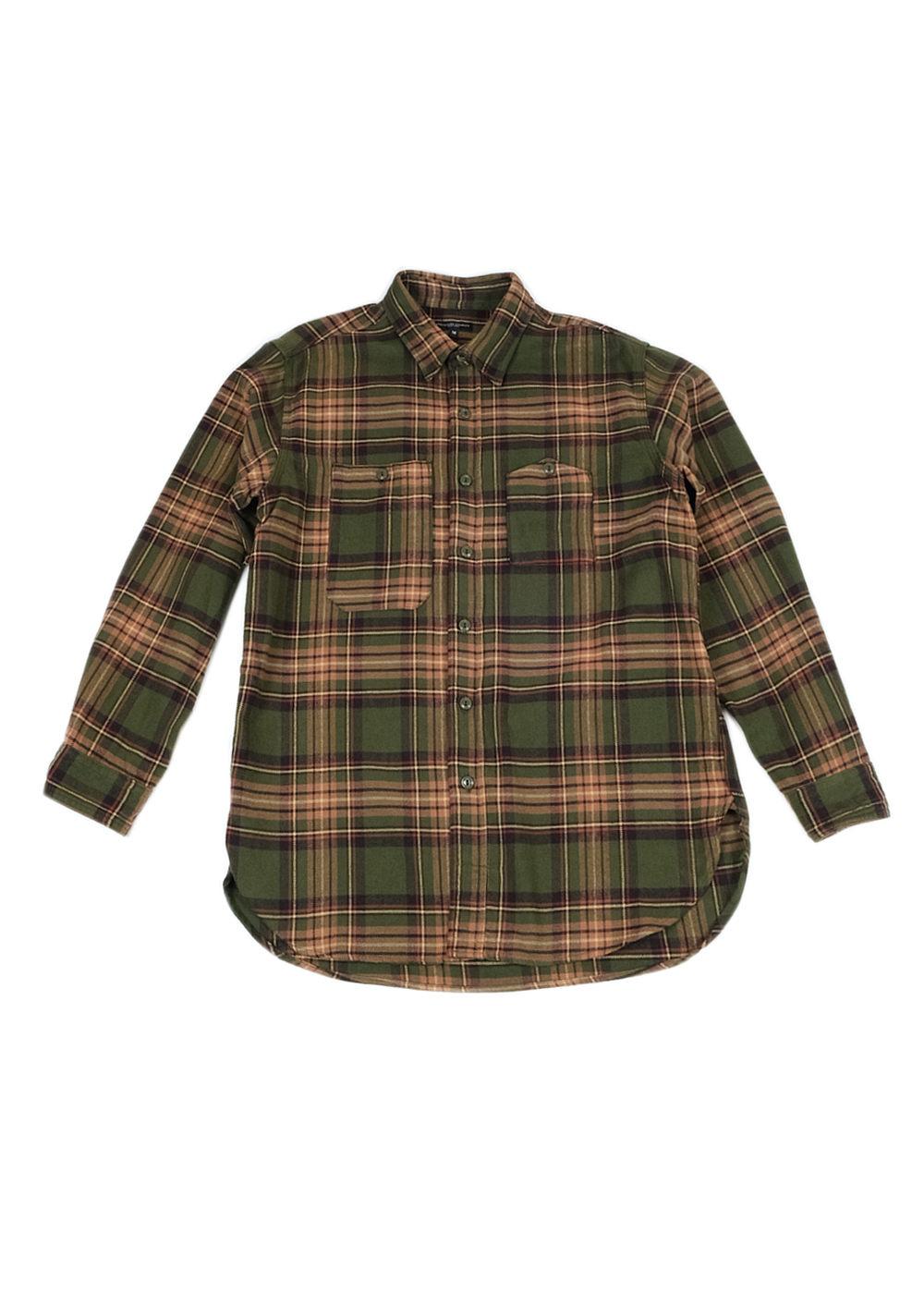Engineered-Garments-Work-Shirt-Olive-Brown-Cotton-Twill-Plaid-01