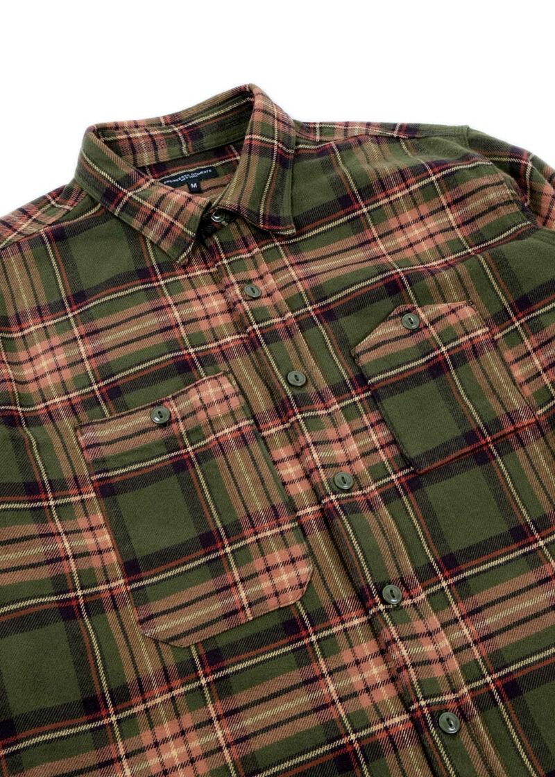 Engineered-Garments-Work-Shirt-Olive-Brown-Cotton-Twill-Plaid-02