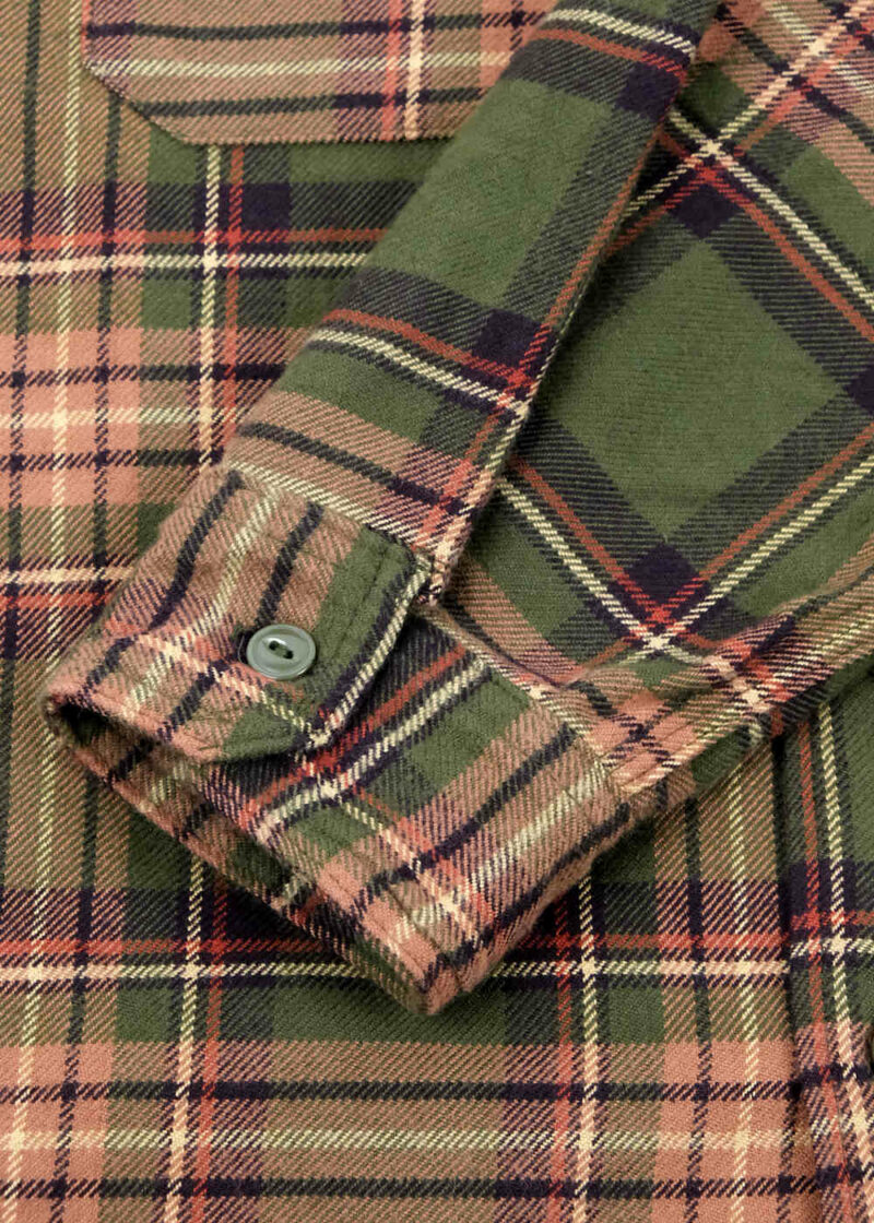 Engineered-Garments-Work-Shirt-Olive-Brown-Cotton-Twill-Plaid-04