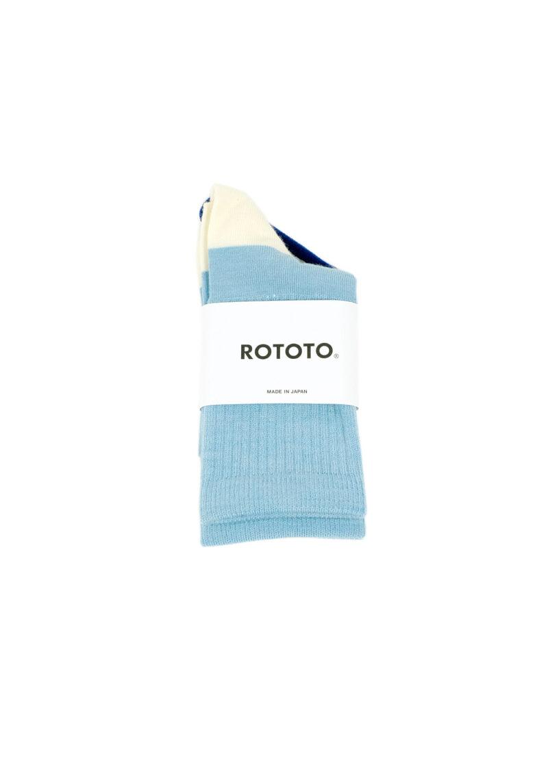 Rototo-Hybrid-Crew-Socks-Merino-Wool-L.blue-White-01