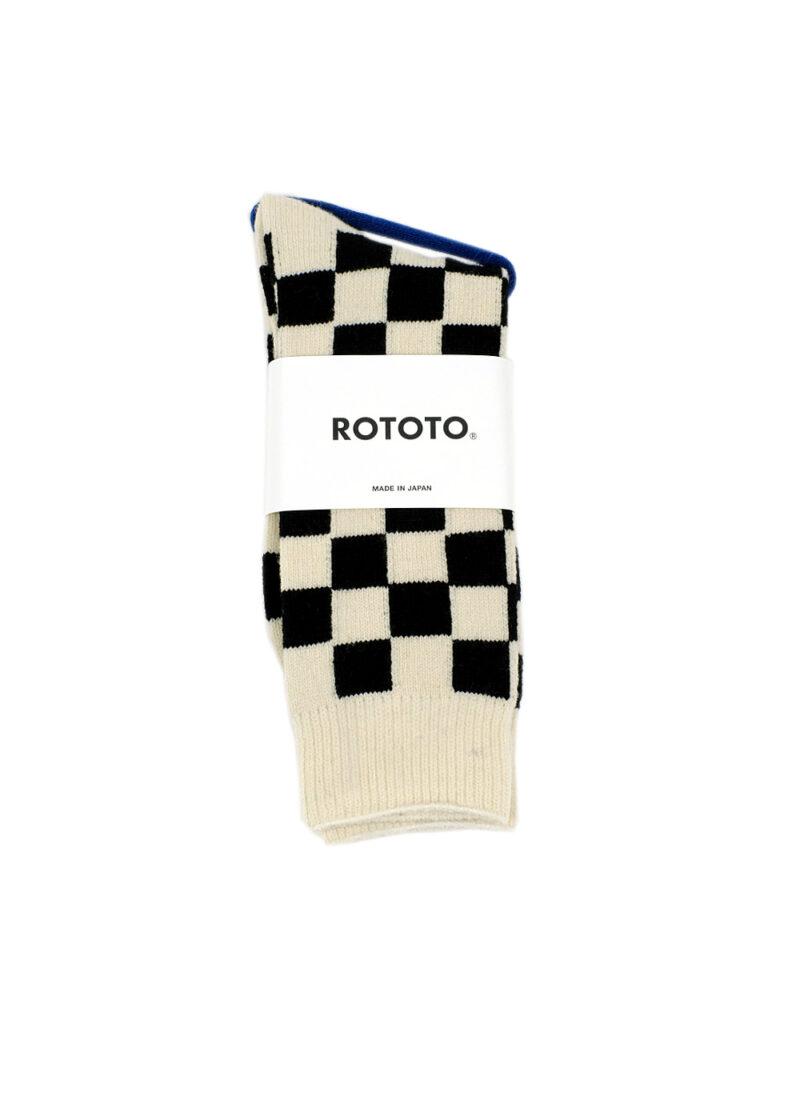 Rototo-Rectcle-Wool-Checkerboard-Crew-Socks-01
