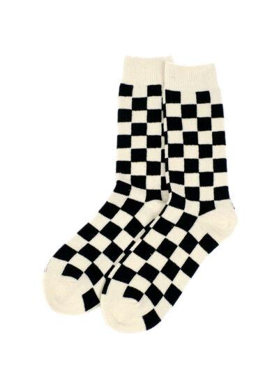 Rototo-Rectcle-Wool-Checkerboard-Crew-Socks-02