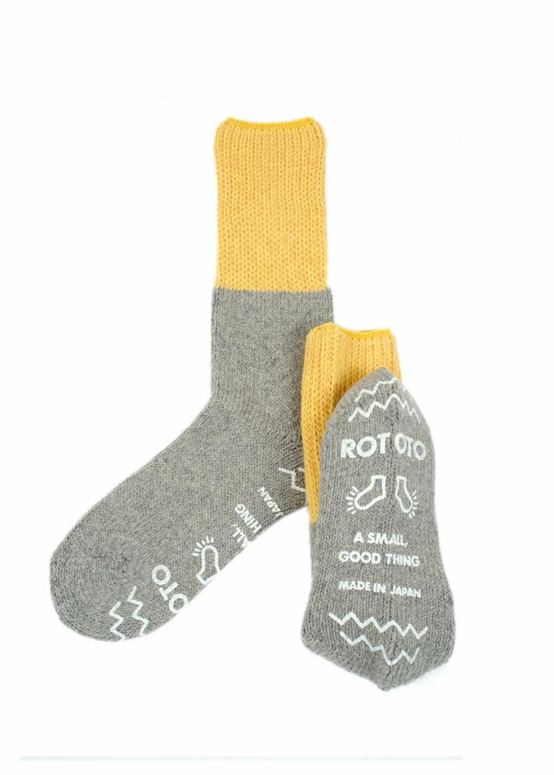 Rototo-Teasel-Socks-Yellow-L.gray-02